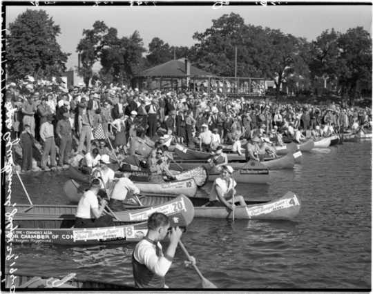 Paul Bunyan Canoe Races, Minneapolis Aquatennial, 1940
