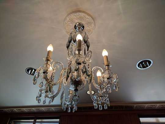 Crystal chandelier linked to Nina Clifford