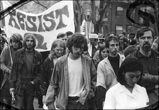 Members of the Minnesota Eight march in a Vietnam War protest