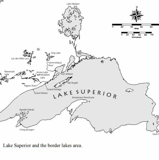 Lake Superior and its border lakes