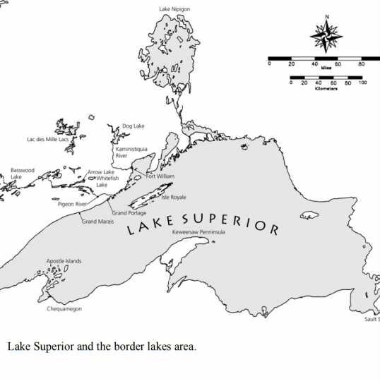 Lake Superior and its border lakes