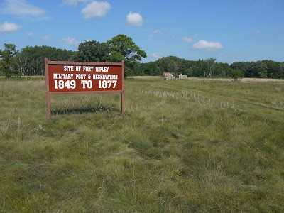 Color image of the sign marking the site of Fort Ripley, 2005.