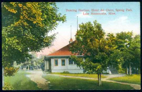 Color postcard of the Dancing Pavilion at the Hotel Del Otero, c.1910.