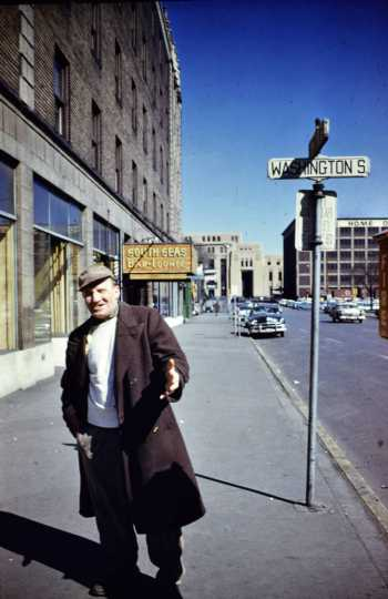 Unnamed man on the corner of Washington Avenue
