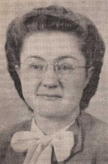 Black and white photograph of Edna G. Gerdes, missionary to India, ca. 1970.