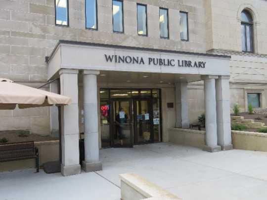 Winona Public Library Accessible Entrance