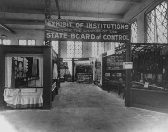 The Exhibit of Institutions under the charge of the State Board of Control at the Minnesota State Fair in 1915.