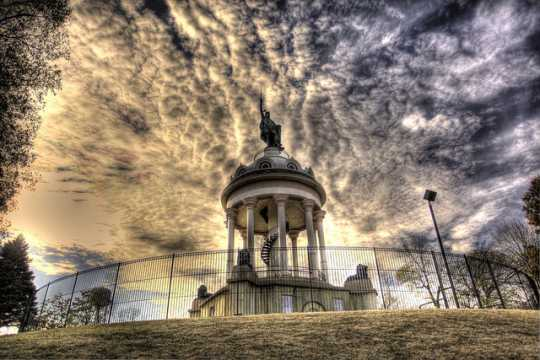 Color image of the Hermann Monument, New Ulm, 2011. Photograph by Adam C. Smith.