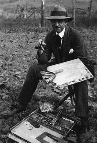 Alexis Jean Fournier with painter's palette