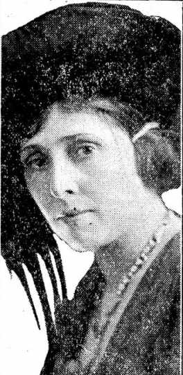 Black and white photograph of Nellie Francis, ca. 1921.