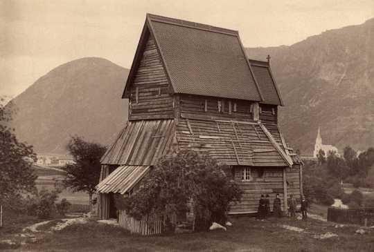 The original Hopperstad Church in Norway, prior to restoration