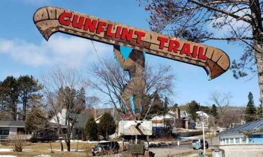 Sculpture at the beginning of the Gunflint Trail