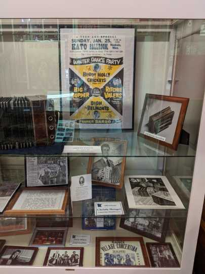 Artifacts and photographs in the Minnesota Music Hall of Fame
