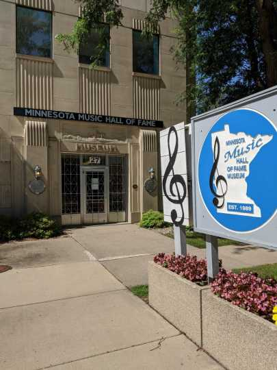 Front entrance to the Minnesota Music Hall of Fame