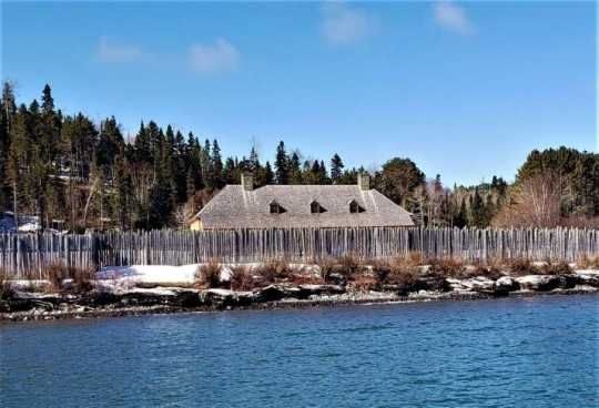 Recreation of the North West Company depot at Grand Portage
