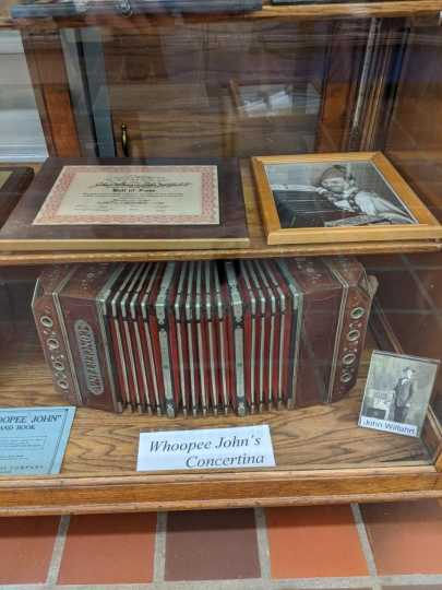 """Concertina used by """"Whoopee John"""" Wilfahrt"""