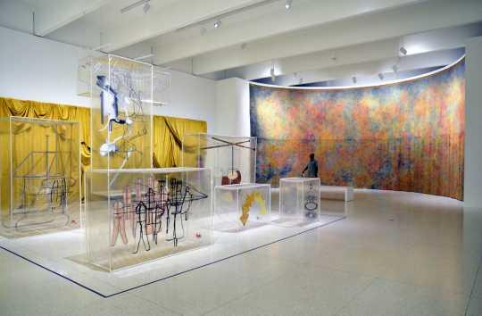 Art installation inside the Walker Art Center