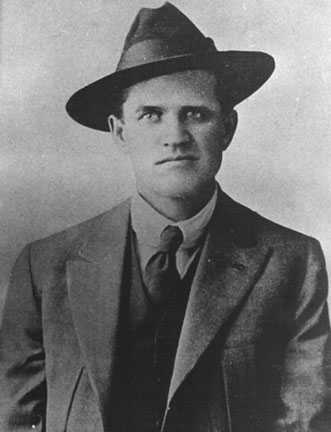 Black and white photograph of Frank Little, c.1915. Little was an IWW organizer involved in the Mesabi Range Strike of 1916.
