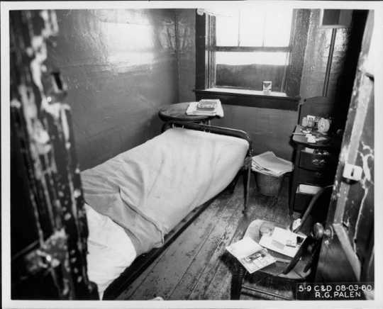 Lived-in room at the Pioneer Hotel