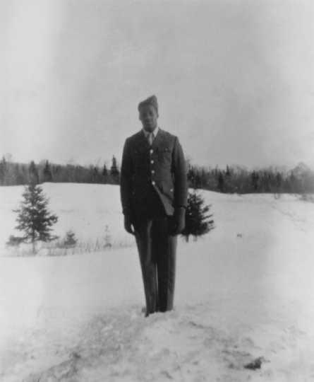 Photograph of John Lyght in Air Force Uniform