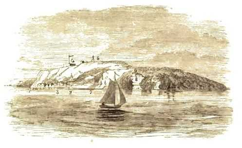 Drawing of Mackinac Island, c.1860.