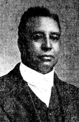 Black and white photograph of Rev. William M. Majors, c.1920. Majors was pastor of St. Mark's AME at the time of the 1920 Duluth lynchings.