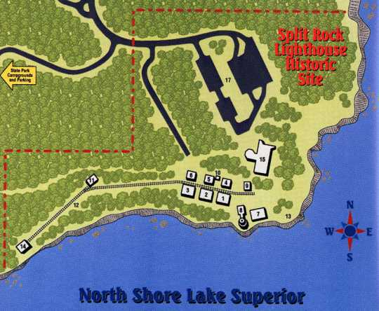 Map of Split Rock Station