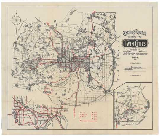 Cycling routes around the Twin Cities