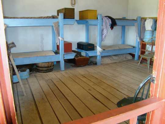 Reconstructed quarters for enlisted men with families at Historic Fort Snelling