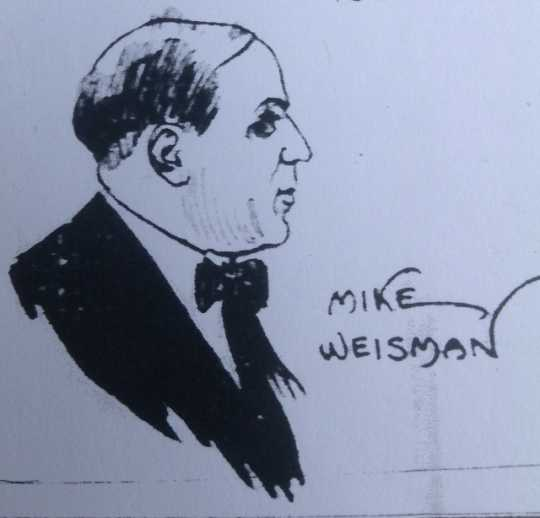 Courtroom sketch of Mike Weisman from Minneapolis Tribune