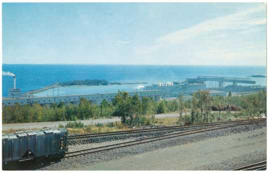 photograph of mining plant and harbor