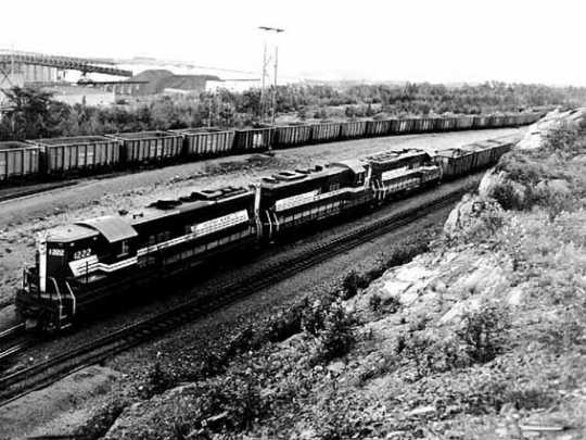 photograph of Reserve Mining Company train