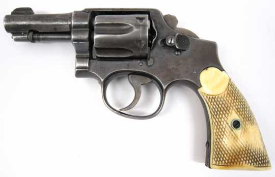 Color image of a St. Paul Police revolver used in shootout with John Dillinger.