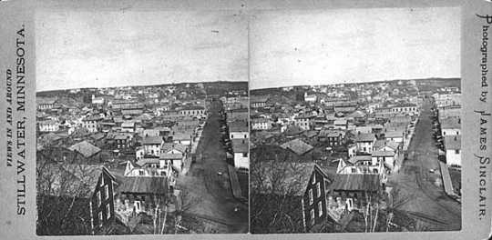 Photograph of Stillwater, circa 1885