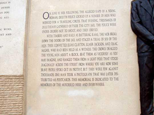 Clayton Jackson McGhie Memorial text