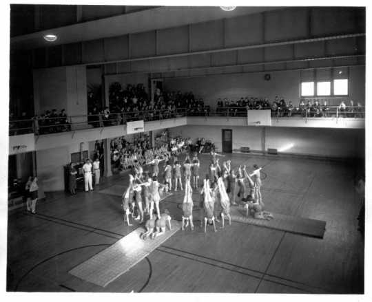 Model School gymnastics demonstration