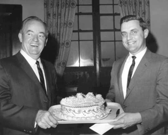 Walter Mondale and Hubert Humphrey, 1967