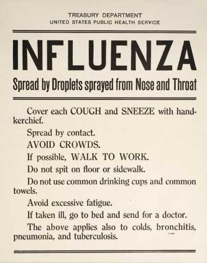 Influenza awareness poster