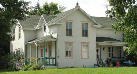 Color image of the first home built in Hanover, 2010.
