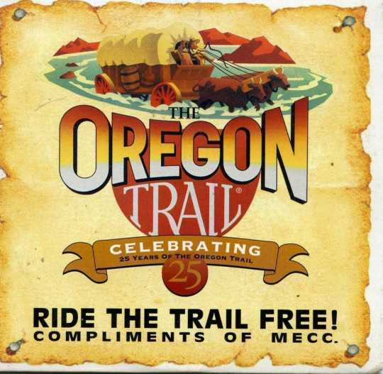 Cover art for the Oregon Trail computer game, 1995.
