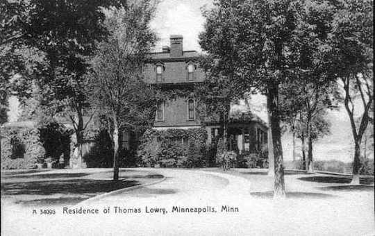 Residence of Thomas Lowry, Hennepin and Groveland, Minneapolis