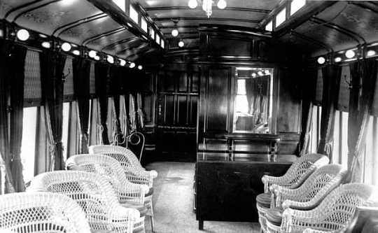Interior of Thomas Lowry's private car