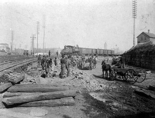 Extending Soo Line tracks, Minneapolis