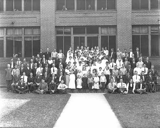Group of patients, State Sanatorium