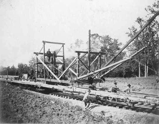 Laying track near Detroit Lakes