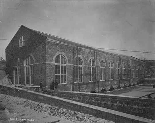 Newly constructed Lower Dam Hydro Plant, Minneapolis