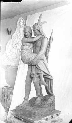 Hiawatha statue for Minnehaha Park, Minneapolis