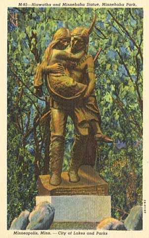 Hiawatha statue, Minnehaha Park, Minneapolis