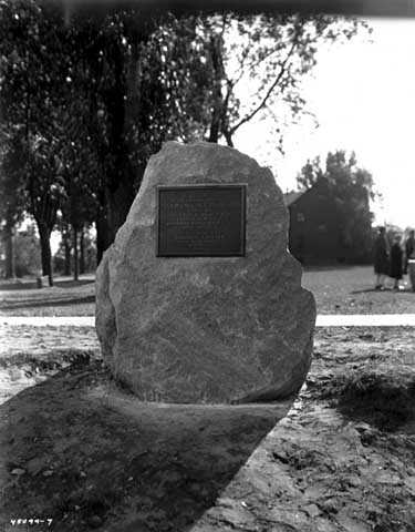 Historical marker recognizing Lawrence Taliaferro