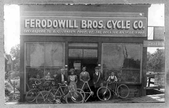 Ferodowill Brothers bicycle repair shop
